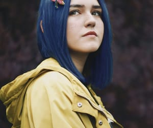 beauty, blue hair, and coraline image