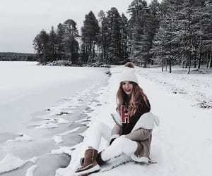 winter, girl, and nature image