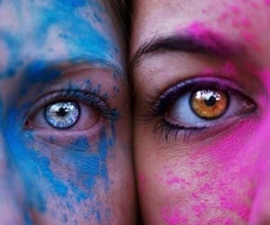 colors, girls, and eyes image