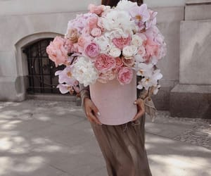 flowers, glamours, and pink image