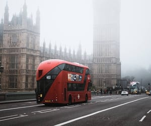 autumn, bus, and city image