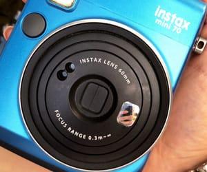 blue, camera, and fashion image