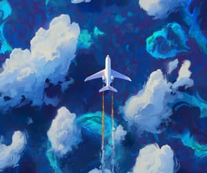 air, art, and blue image