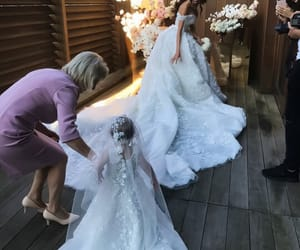 bride, fashion, and kids image