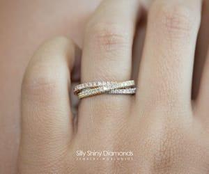 diamond ring, stacking rings, and diamond wedding ring image