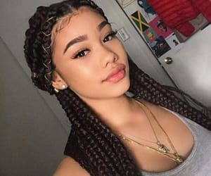 braids, lips, and pretty image