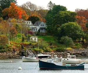 autumn colors, boats, and facebook image