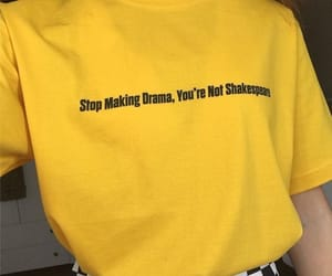 yellow, clothes, and drama image