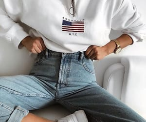 comfortable, fashionable, and jeans image