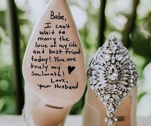love, shoes, and wedding image