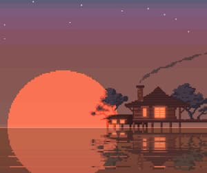 gif, house, and pixel art image