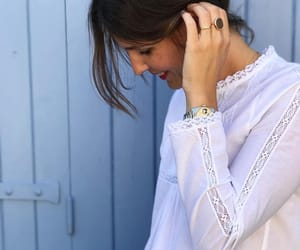 frills, romantic, and lace blouse image