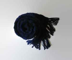 etsy, chunky scarf, and navyblue image