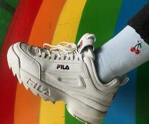 rainbow, Fila, and theme image