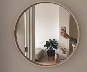 aesthetic, mirror, and beige image