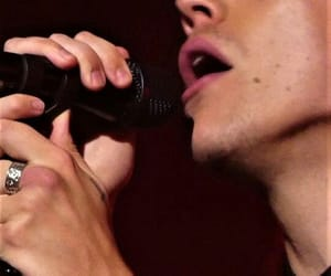 jaw, rings, and microphone image