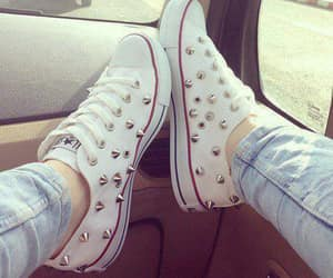 all star, white, and converse image
