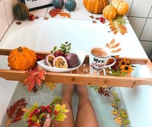 autumn, bath, and breakfast image