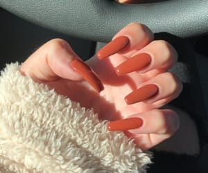 nails, fall, and girl image