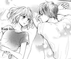 manga, monochrome, and love image