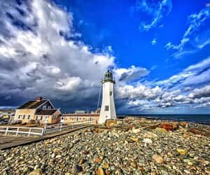 beach, facebook, and lighthouse image