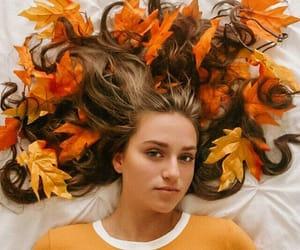 autumn, girl, and magic image