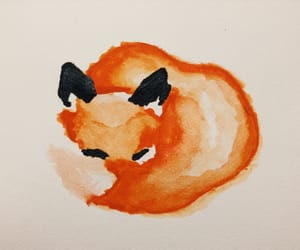 art, draw, and fox image