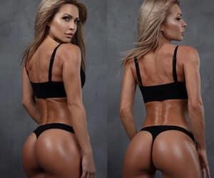 black lingerie, butt, and girl image