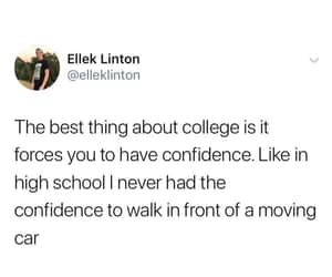 college, confidence, and courage image