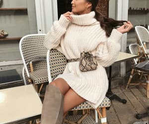 fashion, knitwear, and street style image
