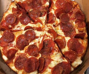 food, pizza, and fast food image