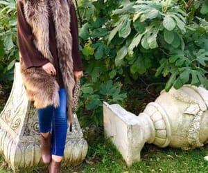 furry vests, fur coat hijab, and teddy bear coats image