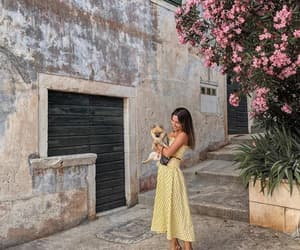 outfit, yellow pink, and summer spring image