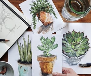 art, plants, and nature image