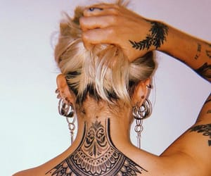 blonde, girls, and tatoos image