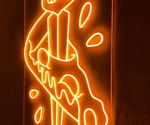 neon, pizza, and wall image