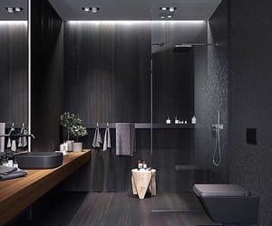 bathroom, home, and black image