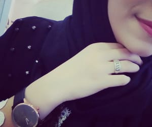 black, hijab, and ring image