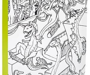 adorable, dinosaur, and coloring book image