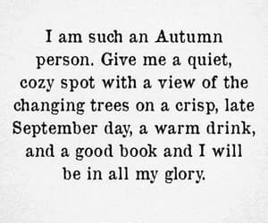 autumn, quotes, and book image