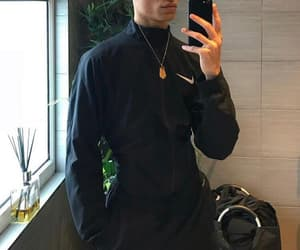 handsome, nike, and all black image