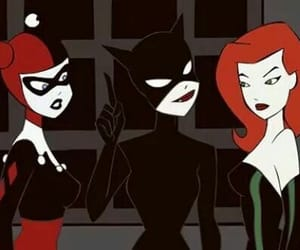catwoman, girl, and harley quinn image