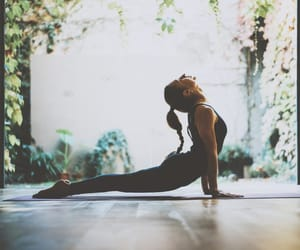 exercise, peace, and yoga image