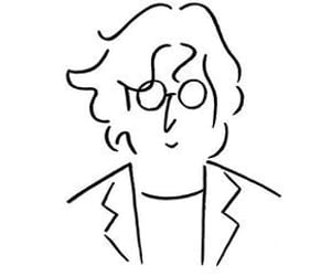 black and white, john lennon, and the beatles image