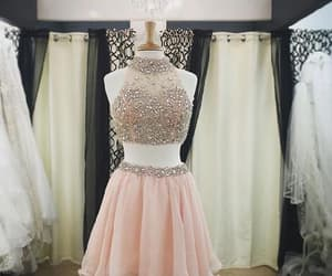 short homecoming dress and prom dresses two piece image