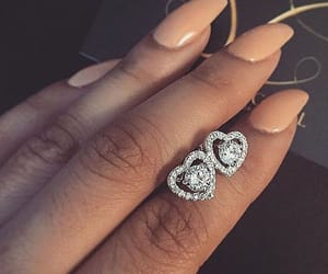 earrings, nails, and love image