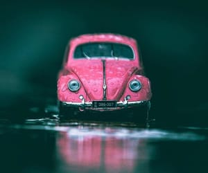 bug, car, and pink image