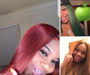 braces, hair, and lace frontal image