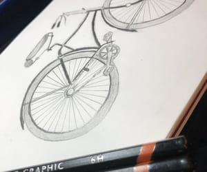 drawing, sketch, and bycle image