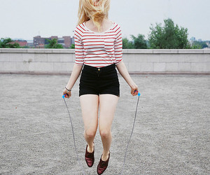 blonde, hair, and jump rope image